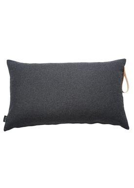 Louise Smærup - Pude - Uld - Dark Grey Wool - 80 x 50