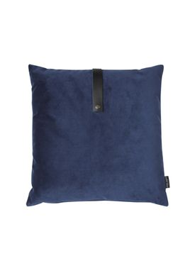 Louise Smærup - Cushion - Velvet - Blue - 50 x 50 cm