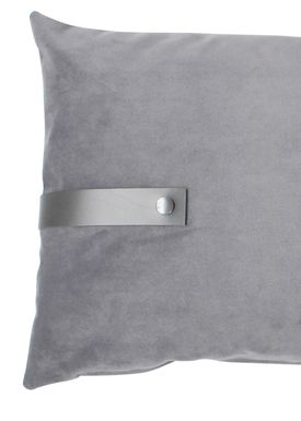 Louise Smærup - Cushion - Velour - Light Grey - 40 x 60 cm