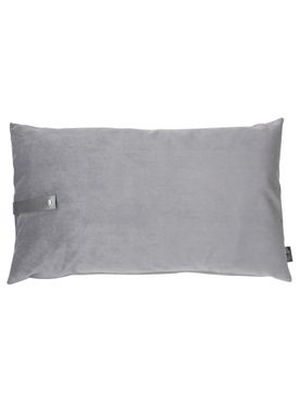 Louise Smærup - Cushion - Velour - Light Grey - 50 x 80 cm