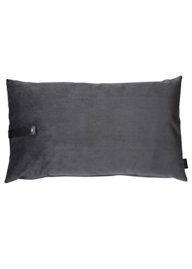 Louise Smærup - Cushion - Velour - Dark Grey - 50 x 80 cm
