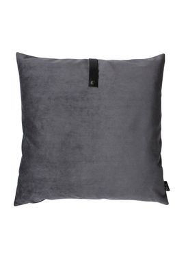Louise Smærup - Cushion - Velourpude  - Dark Grey - 65 x 65 cm