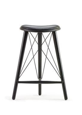 Lovewood - Stol - Thule  - Eg sort med sort læder H66