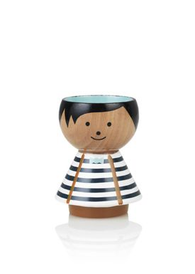 Lucie Kaas - Figure - Bordfolk Boy Egg Cups - Blue Stripes