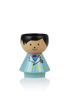 Lucie Kaas - Figure - Bordfolk Boy Egg Cups - Mint Suite