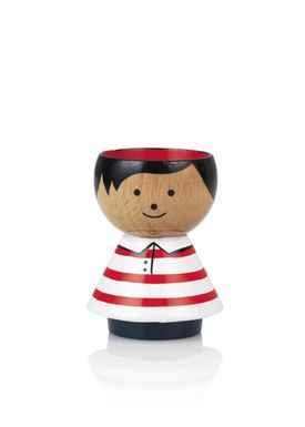 Lucie Kaas - Figure - Bordfolk Boy Egg Cups - Red Stripes
