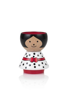 Lucie Kaas - Figure - Bordfolk Girl Egg Cup - White
