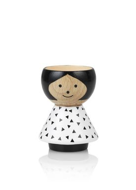 Lucie Kaas - Figure - Bordfolk Girl Egg Cup - Triangles