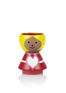 Lucie Kaas - Figure - Bordfolk Girl Egg Cup - Heart