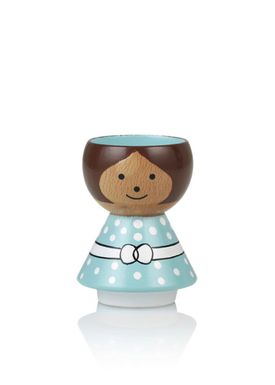 Lucie Kaas - Figure - Bordfolk Girl Egg Cup - Mint Green