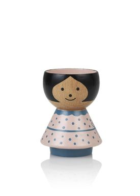 Lucie Kaas - Figure - Bordfolk Girl Egg Cup - Pink with Dots