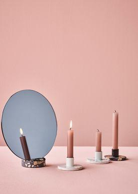 Lucie Kaas - Ljushållare - ERAT Candleholders - White