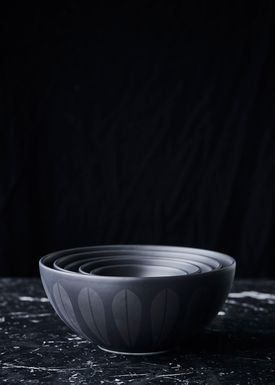 Lucie Kaas - Skål - Lotus Bowl - Medium - Black