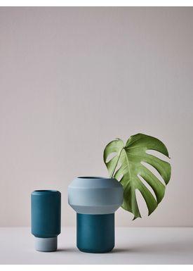 Lucie Kaas - Vase - Fumario Vase - Dark Grey/Pink