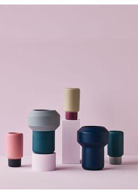 Lucie Kaas - Vase - Fumario Vase - Pistachio/Plum