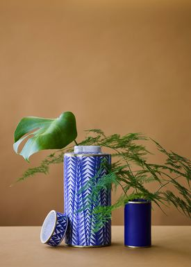 Lucie Kaas - Vase - Matee Canisters - Large - Blue pines