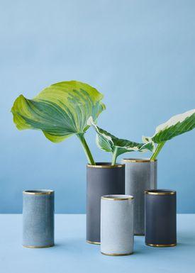 Lucie Kaas - Vas - Matee Vases - Large - Cracked Turquoise