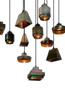 Tom Dixon - Lampe - Lustre Round Pendant - Rust