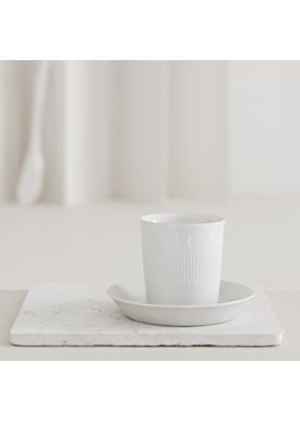 Lyngby Porcelæn - Kop - Thermodan Termo kaffekop med underkop - White