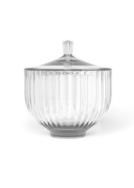 Lyngby Porcelæn - Jar - Bonbonniere - Clear Ø14