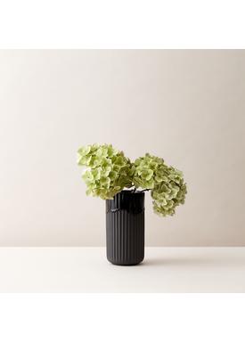 Lyngby Porcelæn - Vase - Lyngby vase - Black Running Glaze - 20 cm