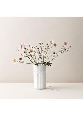 Lyngby Porcelæn - Vase - Lyngby vase - White Running Glaze - 20 cm
