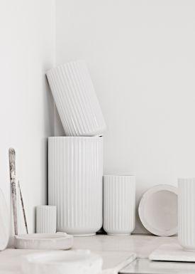 Lyngby Porcelæn - Vase - Lyngbyvasen - Hvid - 8 cm