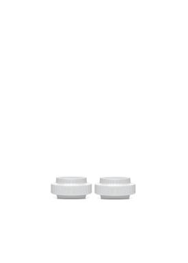Lyngby Porcelain - Lysestage - Fyrfadsstage - Hvid 2 pcs