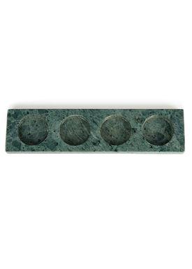 Nordstjerne - Lyseholder - Marble Candle Holder - Grøn Marmor