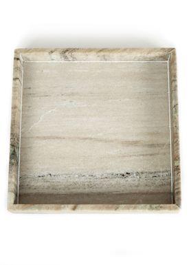 Nordstjerne - Fad - Marble Tray Large - Brun Marmor