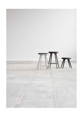 Mater - Chair - High Stool 74 - Black Stained Beech
