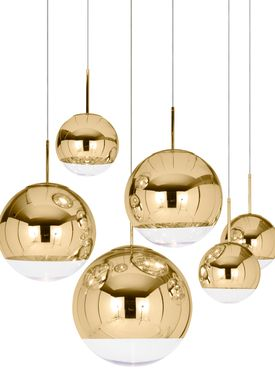 Tom Dixon - Lampe - Mirror Ball 50 Pendant - Guld