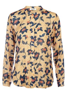 Modström - Bluse - September Shirt - Mørk Gul Print