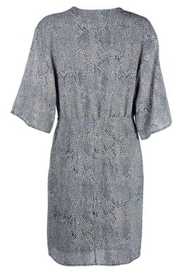 Modström - Kjole - Sara Print Dress - Blue Snake