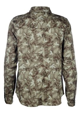 Modström - Shirt - Silver Botanical Shirt - Botanical Army Green