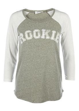 Modström - T-shirt - Sistine Tee - Khaki/Hvid