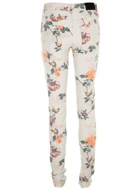 Von Flower Jeans Flower Print