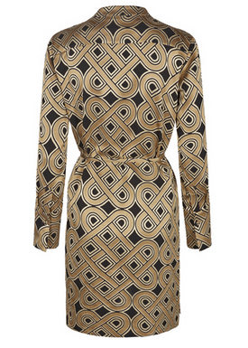 Mos Mosh - Kjole - Lipa Dress - Golden Print