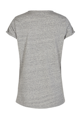Mos Mosh - T-shirt - Magaret Tee - Grey Melange