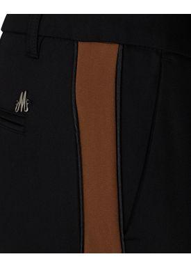 Mos Mosh - Bukser - Blake Club Pants - Black/Cognac