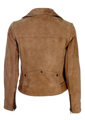 Muubaa - Jacket - Warren Belted Biker - Ash Brown