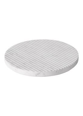 Muuto - Bordskåner - Groove Trivet - Large - Hvid Marmor