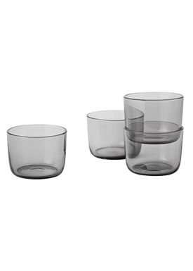 Muuto - Glas - Corky Glasses - Set of 4 - Røget - Low
