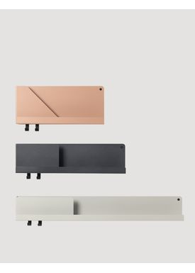 Muuto - Shelf - Folded Shelves - Light Terracotta Small