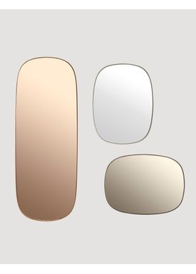 Muuto - Spejl - Framed Mirror - Taupe/Taupe glass Small