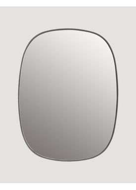 Muuto - Spejl - Framed Mirror - Grey/Clear glass Small
