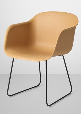 Muuto - Stol - Fiber Chair - Sled Base - Natur/Sort