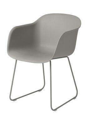 Muuto - Chair - Fiber Chair - Sled Base - Grey/Grey