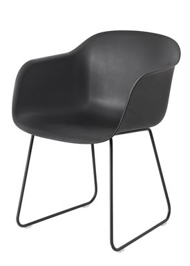 Muuto - Stol - Fiber Chair - Sled Base - Sort/Sort