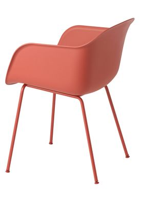 Muuto - Chair - Fiber Chair - Tube Base - Dusty Red/Red Legs